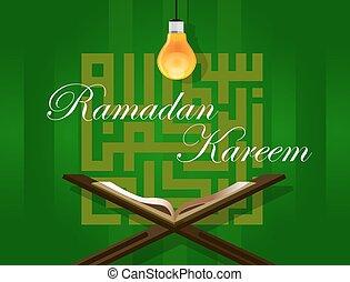 islam read quran under bulb koran ramadan kareem - islam...