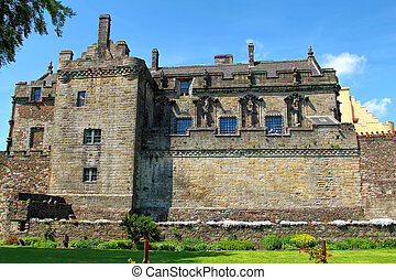 Stirling castle keep, Scotland - Historical Stirling castle...