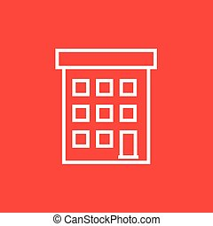 Condominium building line icon - Condominium building thick...
