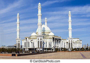 Hazrat Sultan Mosque, in Astana city - Hazrat Sultan Mosque...