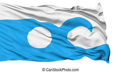 Isolated Waving National Flag of Ocean City - Ocean City...