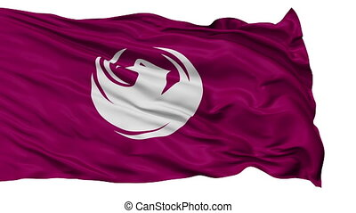 Isolated Waving National Flag of Phoenix City - Phoenix City...