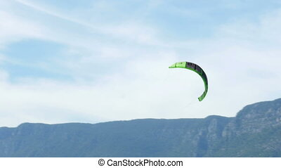 """Akyaka, Turkey, Kitesurfer Kite Surfing at sea"""