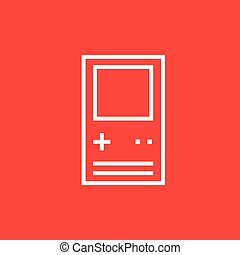 Electronic game line icon - Electronic game thick line icon...