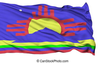 Isolated Waving National Flag of Roswell City - Roswell City...