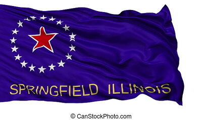 Isolated Waving National Flag of Springfield City -...