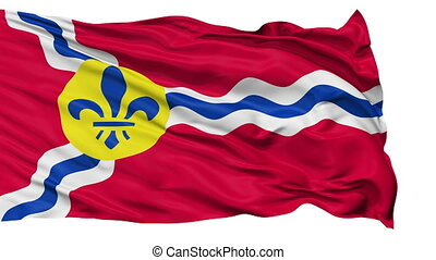 Isolated Waving National Flag of St Louis City - St Louis...