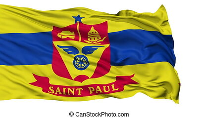 Isolated Waving National Flag of St. Paul City - St. Paul...