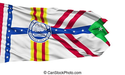 Isolated Waving National Flag of Tampa City - Tampa City...