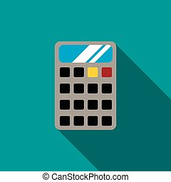 Calculator icon, flat style - Calculator icon in flat style...