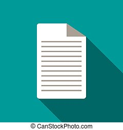 Lined paper icon, flat style - Lined paper icon in flat...