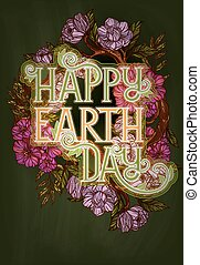 Earth Day poster template - Earth day poster template