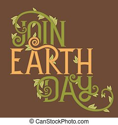 Join Earth Day poster template