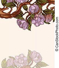 magnolia branch clip art - photo #38