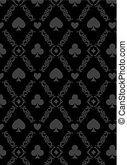 Luxury casino gambling poker background pattern with card...