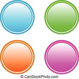 Colorful buttons, set