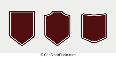 Set of red shields