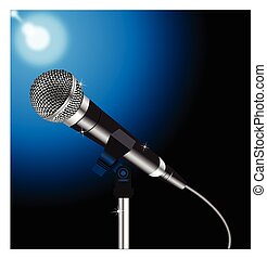 Microphone cord vector 2