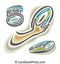 Rugby - Vector illustration of the logo for rugby...