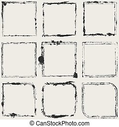 Grunge Frame Set - Distressed Scratched Grune Frame...