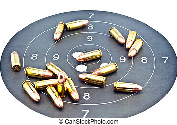9mm Luger Ammunition on target