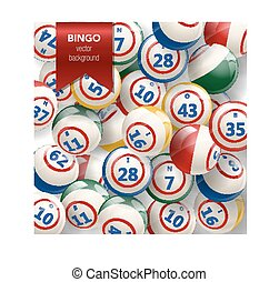 Bingo Background with Balls
