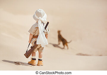 Big advantures in desert - Concept of travel and fascinating...