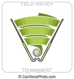 Field hockey tournament emblem