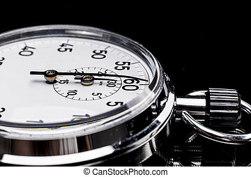 Object of Chronos - Chronometer isolated on black background...