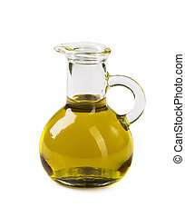 Vegetable oil in a glass carafe