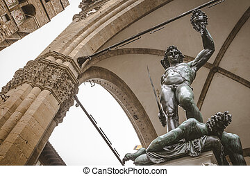 Statue of Perseus With the Head of Medusa at Piazza Della...