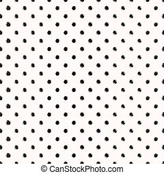 Scribble seamless dots pattern