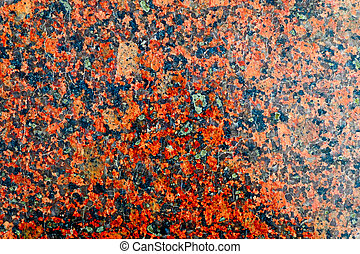 High Polished Granite Texture Red Base with Black and Gray...