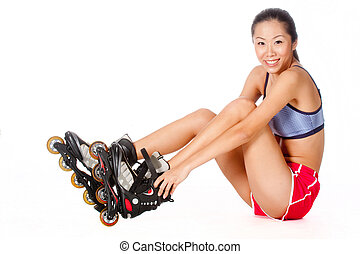 Woman With Rollerblade