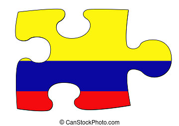 Colombian flag puzzle