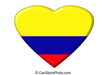 Colombian flag heart