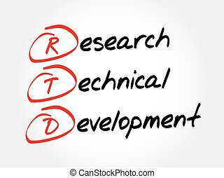 RTD - Research Technical Development, acronym business...