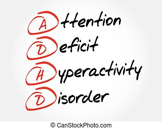 Attention Deficit Hyperactivity Disorder - ADHD - Attention...