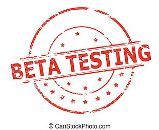 Beta testing - Rubber stamp with text beta testing inside,...