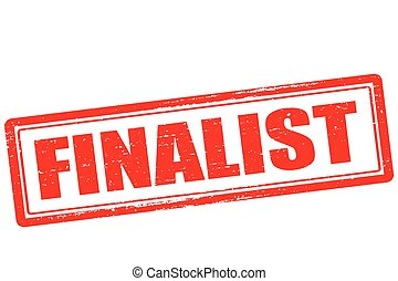 Finalist - Rubber stamp with word finalist inside, vector...