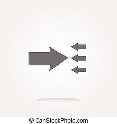 vector arrow icon web button isolated on white. Web Icon...
