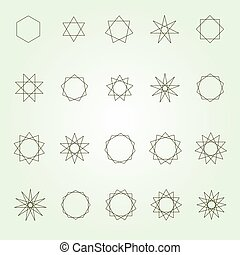 Polygons polygrams sacred geometry - Polygons and polygrams...