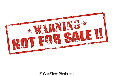 Warning not for sale - Rubber stamp with text warning not...
