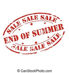 Sale end of Summer - Rubber stamp with text sale end of...