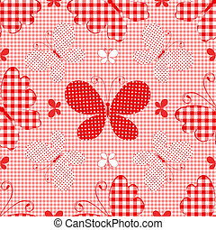 Red checkered seamless pattern
