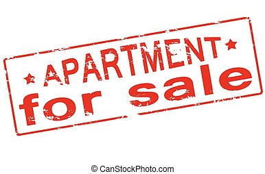 Apartment for sale - Rubber stamp with text apartment for...
