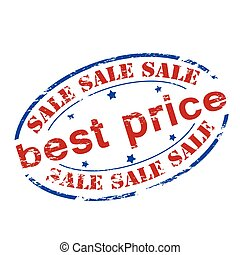 Best price - Rubber stamp with text best price inside,...