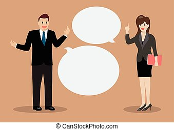 Two business men discussing. Vector Illustration