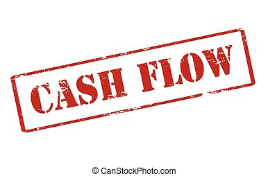 Cash flow - Rubber stamp with text cash flow inside, vector...