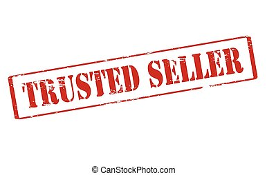 Trusted seller - Rubber stamp with text trusted seller...